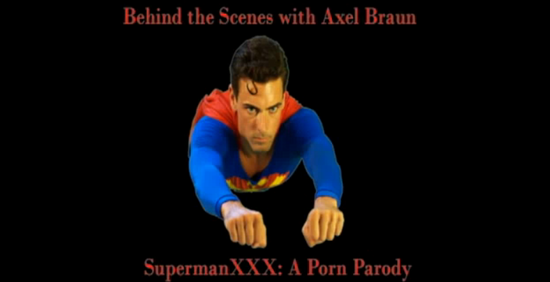 Our initial heads-up that SUPERMAN XXX was actually happening was a tweet ...