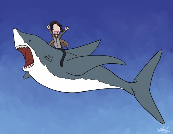 Shark Eating Man Drawing i Was Eating Pie And Then i